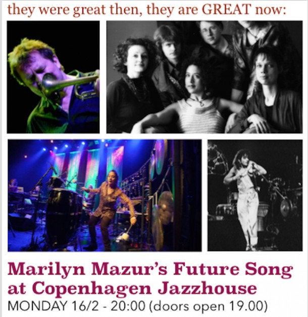 NOT TO BE MISSED: MARILYN's GRAND BIRTHDAY CELEBRATION CONCERT AT COPENHAGEN JAZZHOUSE this Monday, 16th February at 20.00 (doors open 19.00)